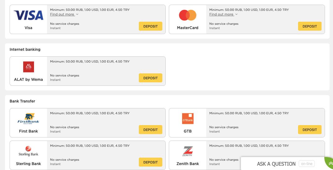betwinner payament option