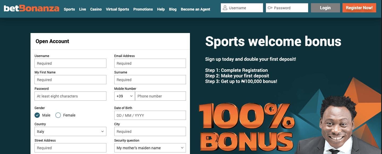 betbonanza registration