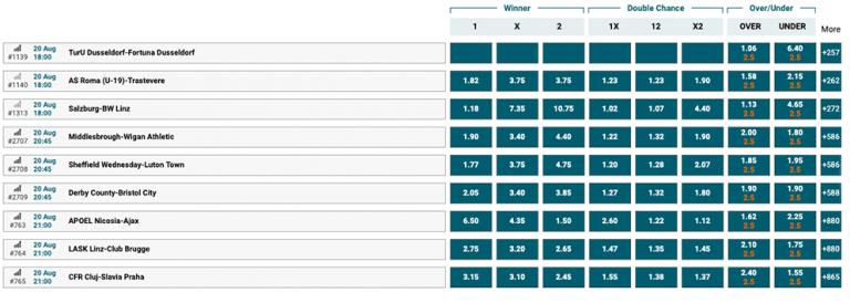 betbonanza odds betting