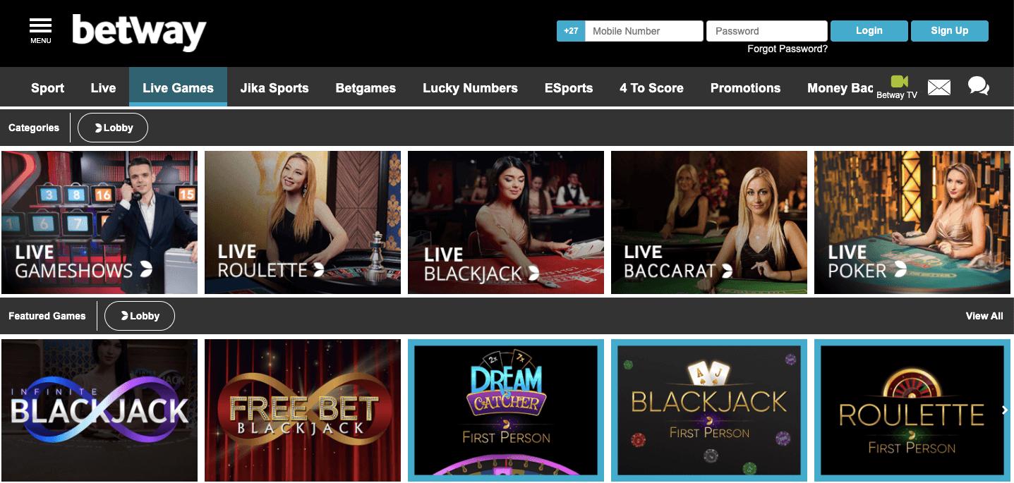 Betway casino nigeria homepage