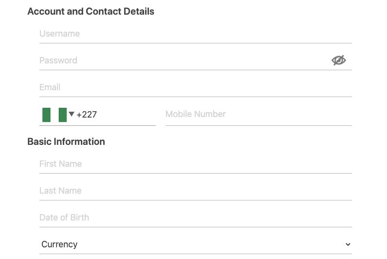 Dafabet Register