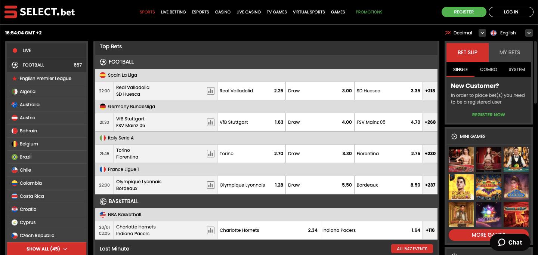 Select.bet NG Betting