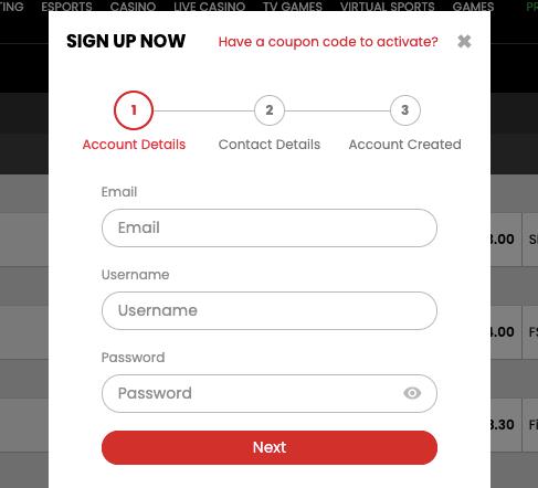 Select.bet NG Register