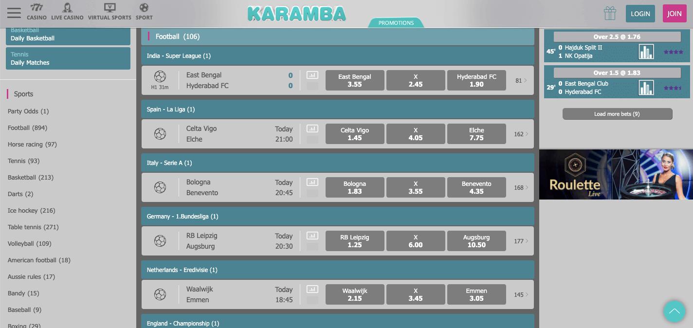Karamba Sports Betting