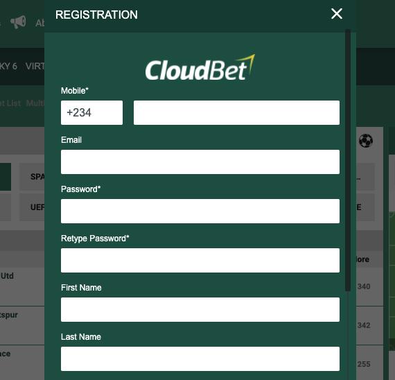 Cloudbet Registrazione