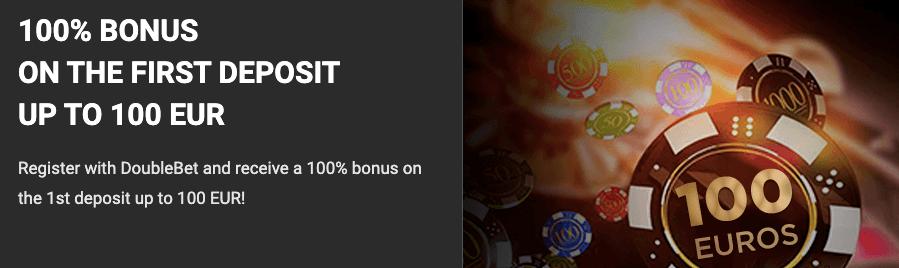 DoubleBet welcome bonus