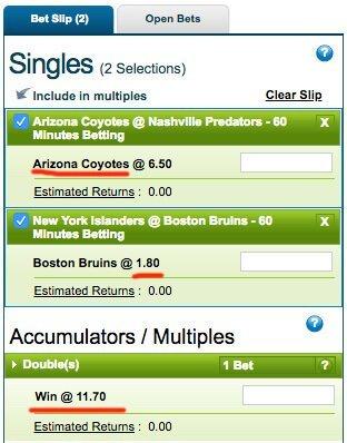 placing accumulator bets